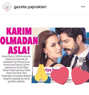 Decizia lui Burak Özçivit Nu fără soția mea, Fahriye!