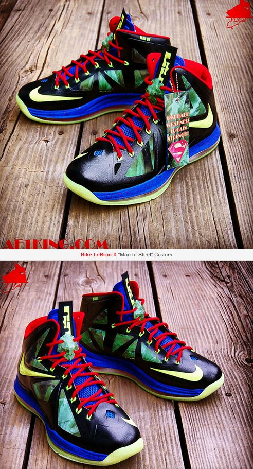 "THE SNEAKER ADDICT: Nike LeBron X ""Man of Steel"" Sneaker ..."