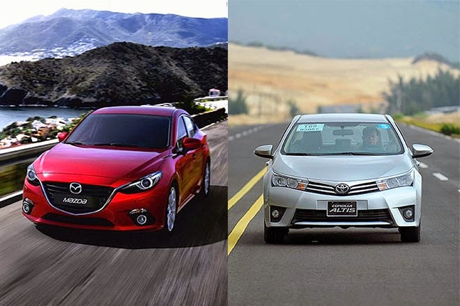 Madza 3 2015 và Corolla Altis 2014 : Chiếc xe nào nên mua ?
