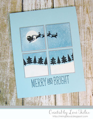 Merry and Bright card-designed by Lori Tecler/Inking Aloud-stamps from Lawn Fawn