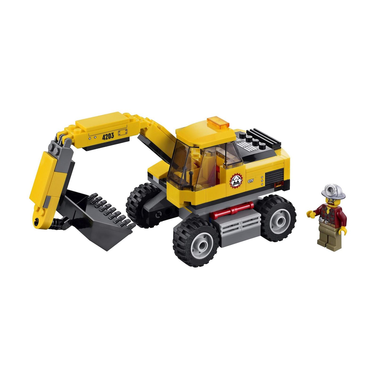 oneTWOBRICK.com: set database: LEGO 4203 excavator transport