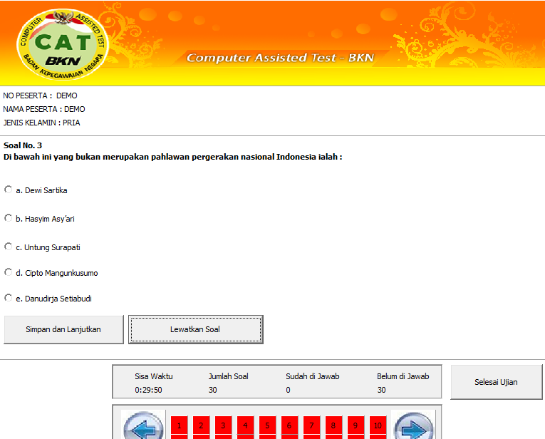 Download Software CAT CPNS 2014