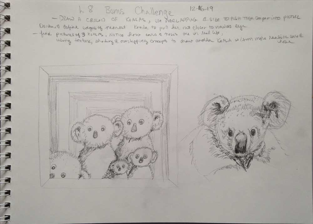 Kats Mish Mash Practice Texture Koalas Pencil