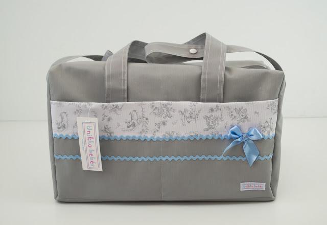 bolsa de hospital gris azul