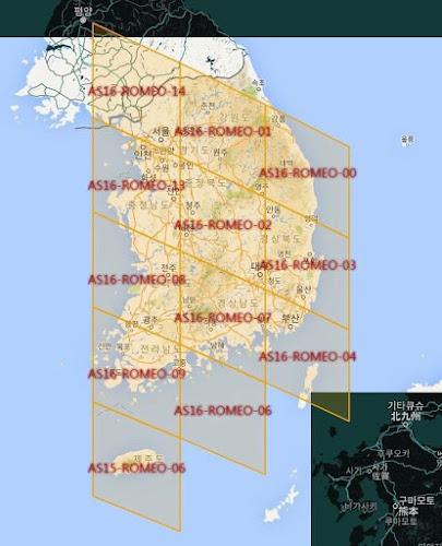 División del mapa de Corea del Sur según el GPS de Pokemon Go
