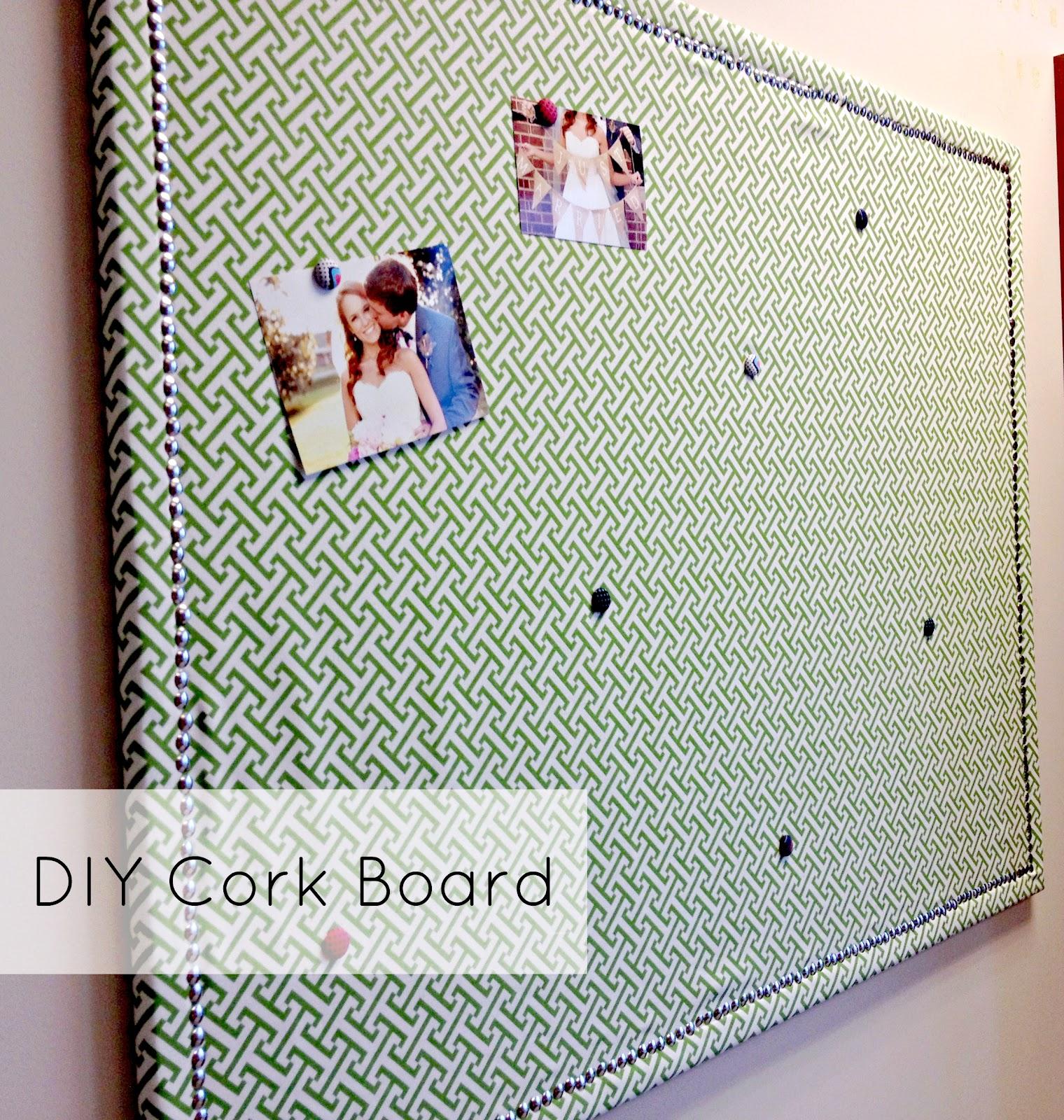 DIY Cork Board - Carolina Charm