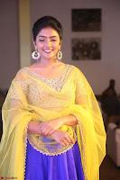 Actress Eesha in Yellow Choli Blue Ghagra at Darshakudu music launch 051.JPG