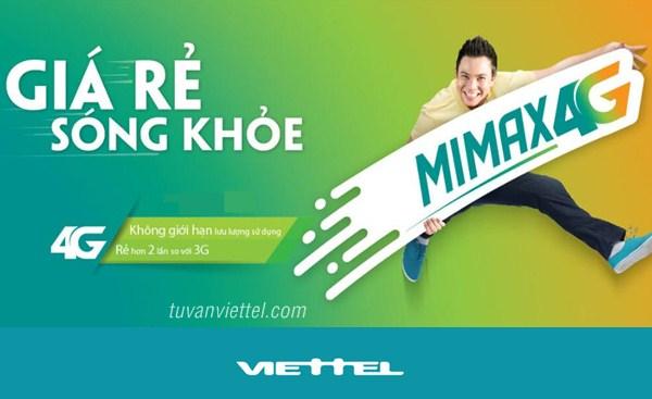 Đăng ký gói MIMAX4G Viettel trọn gói 4G 90.000đ/tháng 3GB