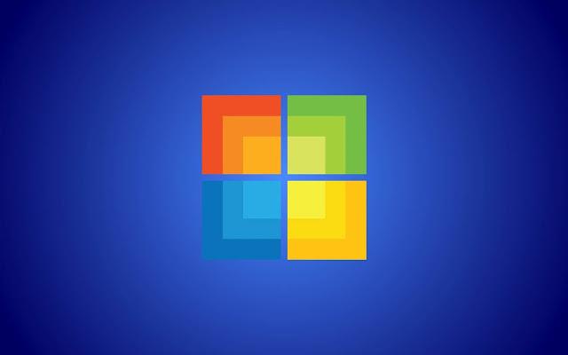 Blauwe Windows 8 achtergrond met logo