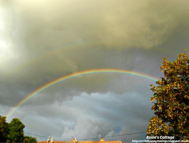 Rainbow in a stormy sky...