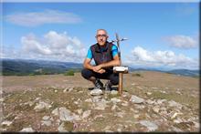La Llana, Peña mendiaren gailurra 887 m. -- 2017ko irailaren 1ean