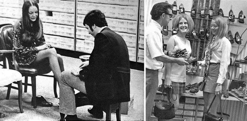 80744e02f54 Vintage Photos of Women Shopping for Shoe, and the Humble ...