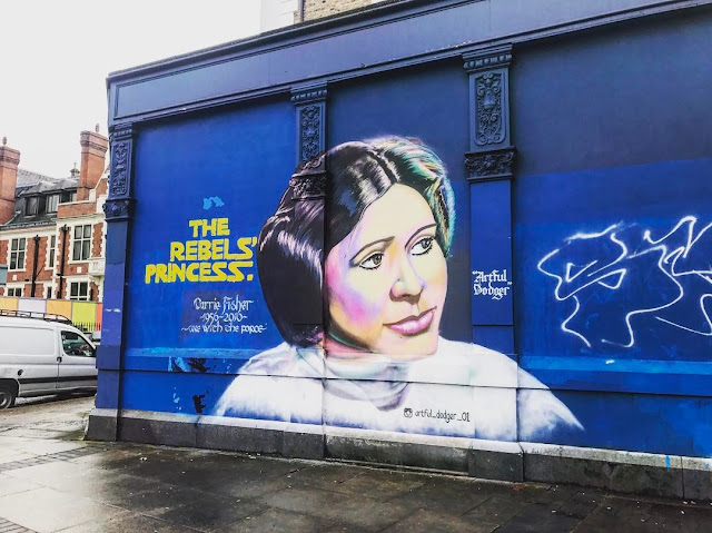 The Rebel's Princess Mural by the Artful Dodger