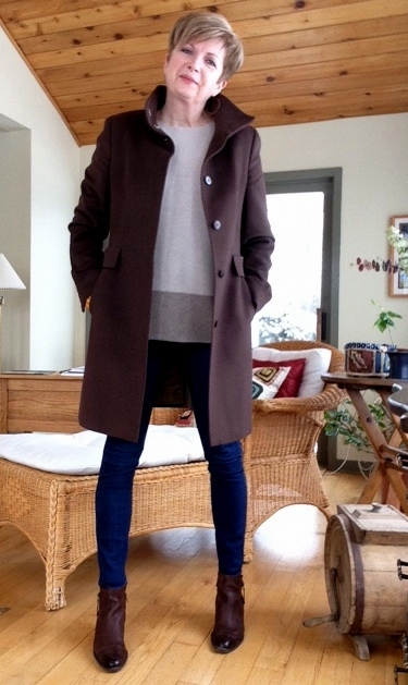 Vince sweater with Max Mara coat