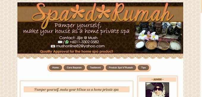 Tempahan Design Blog dan FB Cover Photo: Blog Spa*d*Rumah dan  Blog Mush Mengomel
