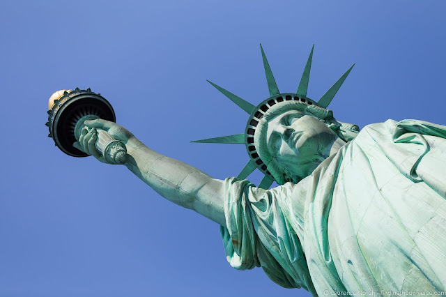 Statue of liberty close up walking tour new york_by_Laurence Norah