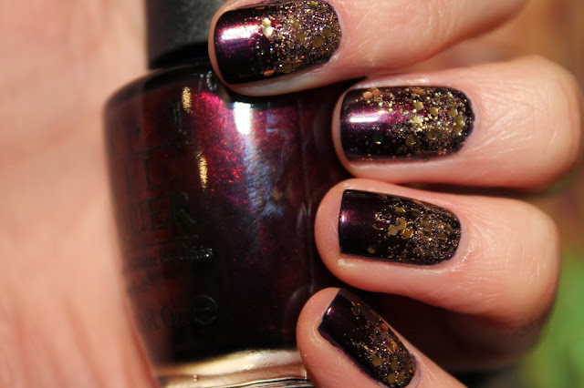 Glitter Gradient Nail Art - OPI, Avon, China Glaze