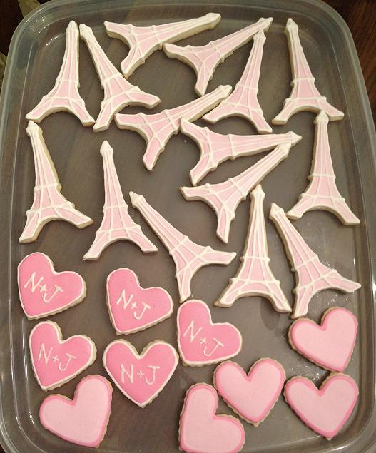 Bridal Shower Cookies- www.thecreativeconfectionista.com