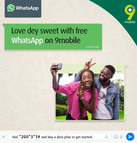 9Mobile Offers Free WhatsApp to All Its Customers