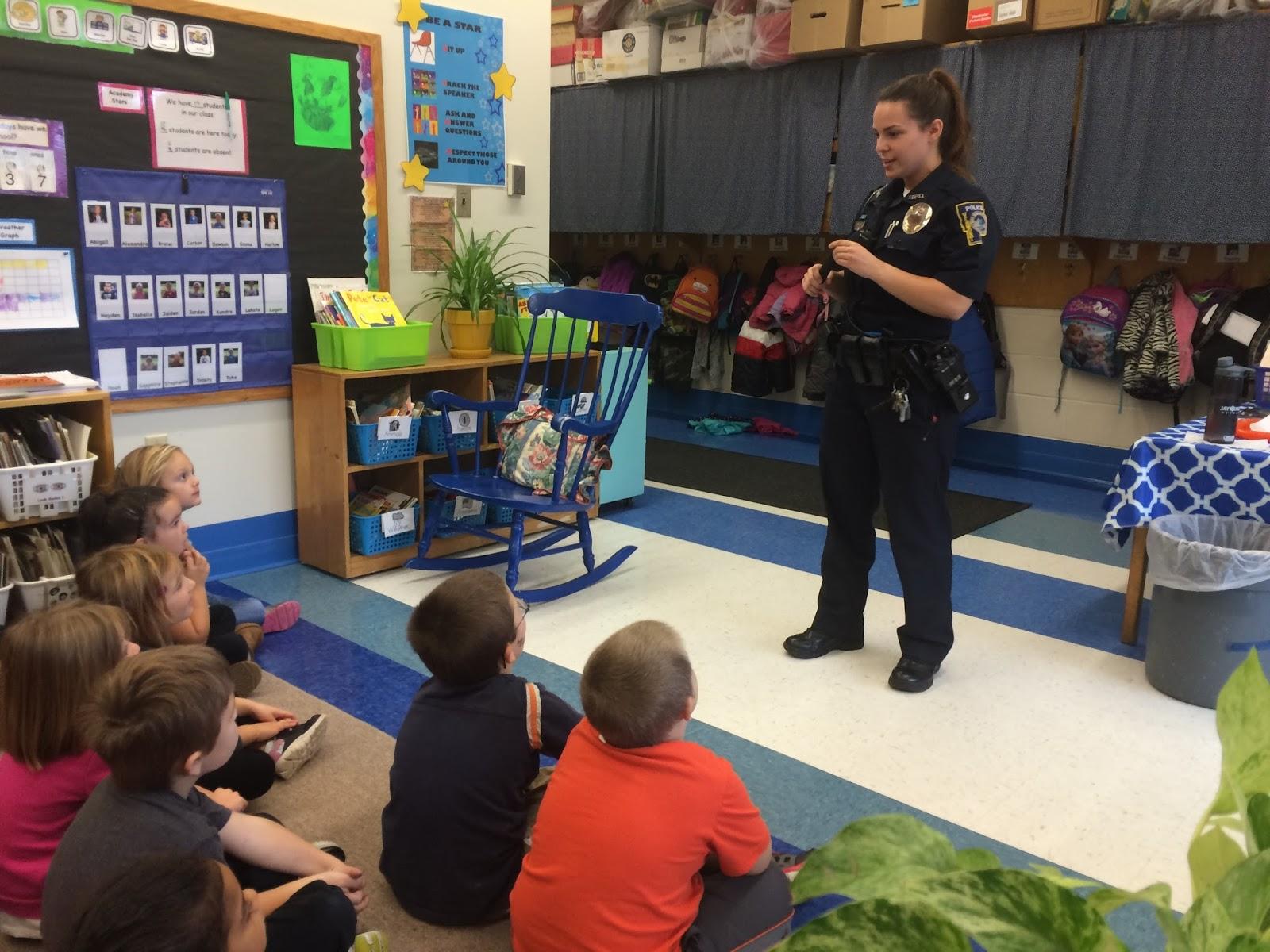 Mrs Parzych S Kindergarten Police Officer Visits