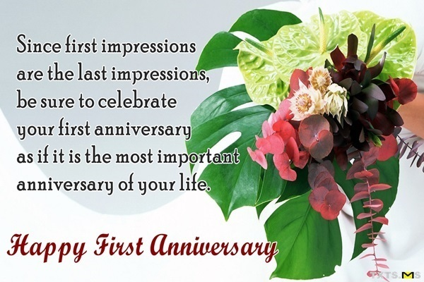 First anniversary wishes quotes pictures with romantic