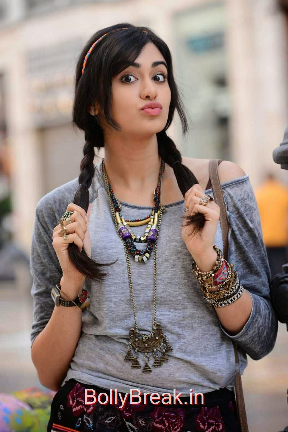 Adah Sharma Photo Gallery with no Watermarks, Adah Sharma Hot Pics In Grey and White Top