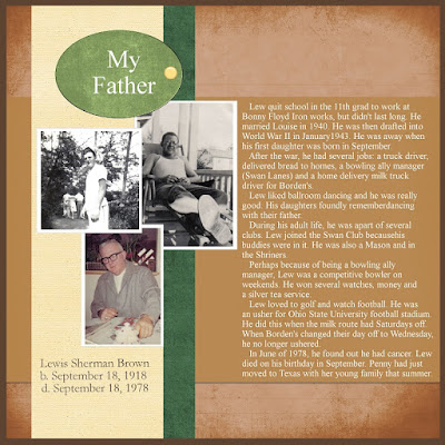 Heritage Scrapbook Idea Father Theme