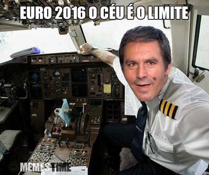 Meme Emplastro como Piloto de Avião – A céu é o Limite.