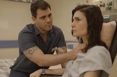 Leila se faz de coitadinha em papo com Magno — Foto: TV Globo
