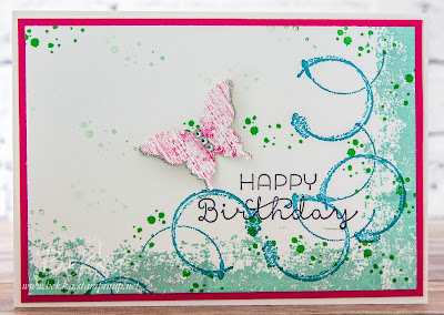Timess Textures Butterfly Birthday Card made with Stampin' Up! UK Supplies