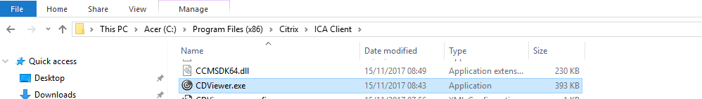 CitrixAce com: Citrix Receiver / Desktop Viewer stuck on