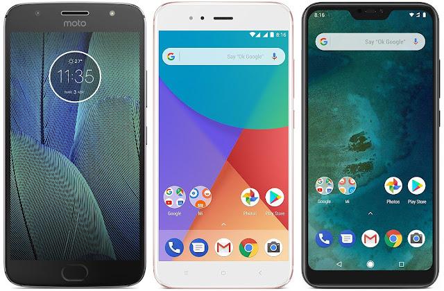 Motorola Moto G5s Plus (4 GB RAM) vs Xiaomi Mi A1 64G vs Xiaomi Mi A2 Lite 64G