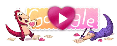 Google Doodles, Google Doodles game, free online game, online game, Pangolin Game, Valentine's Day, happy Valentine's Day,