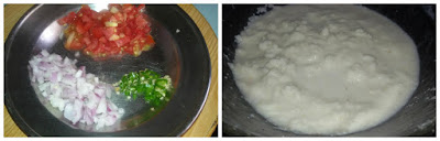 Tomatoes, Onions, Green Chilies, Semolina, Rava, Suji