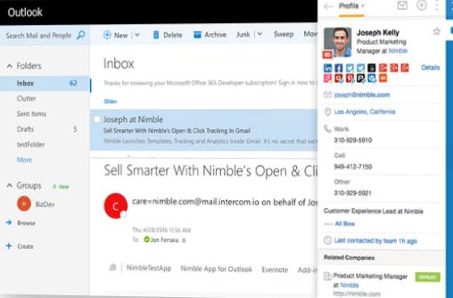 Outlook Sidebar