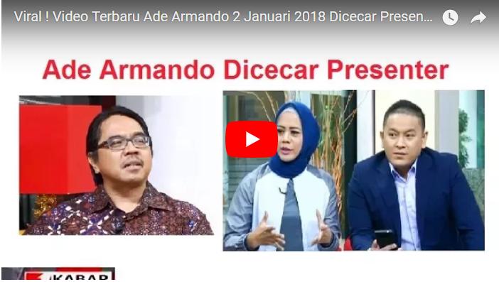 Dosen UI Ade Armando Mengaku Anti Habib Rizieq di Acara TvOne