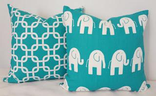 decorative pillows elephant design