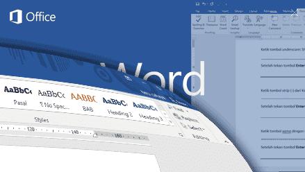 Gambar Membuat garis horizontal dengan cepat di halaman Word 2016