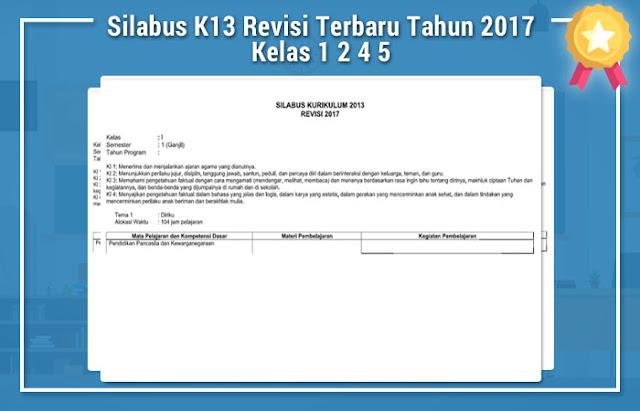 Silabus K13 Revisi Terbaru Tahun 2017 Kelas 1 2 4 5