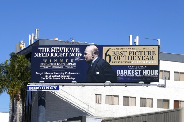 Darkest Hour Oscar billboard