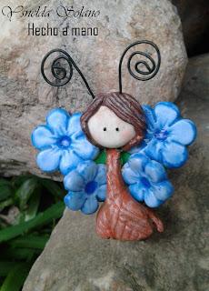 mariposa porcelana fria