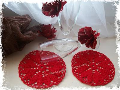 Dessous de verre coeurs