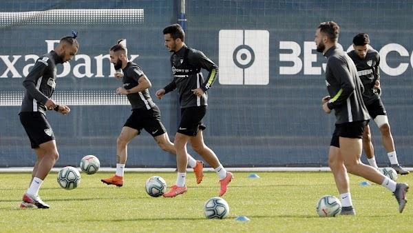 Málaga, entrenamiento con la baja de Juanpi por precaución