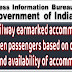 Indian Railway earmarked accommodation for women passengers - Minister of State for Railways