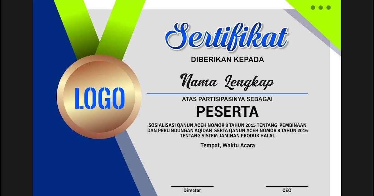 Desain Sertifikat  Contoh Desain Sertifikat Ijazah Penghargaan Op Klj  Certificate  Desain