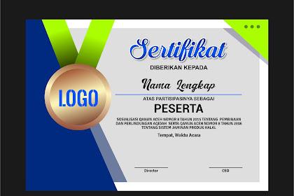 Desain Sertifikat Modern dan Simple, Gratis Download