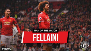 Fellaini Man of the Match Manchester United vs Crystal Palace 4-0