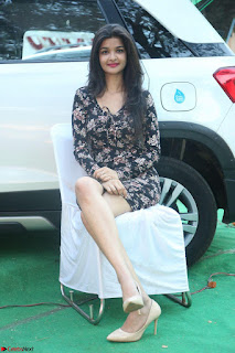 Kritika Telugu cinema Model in Short Flower Print Dress 032.JPG