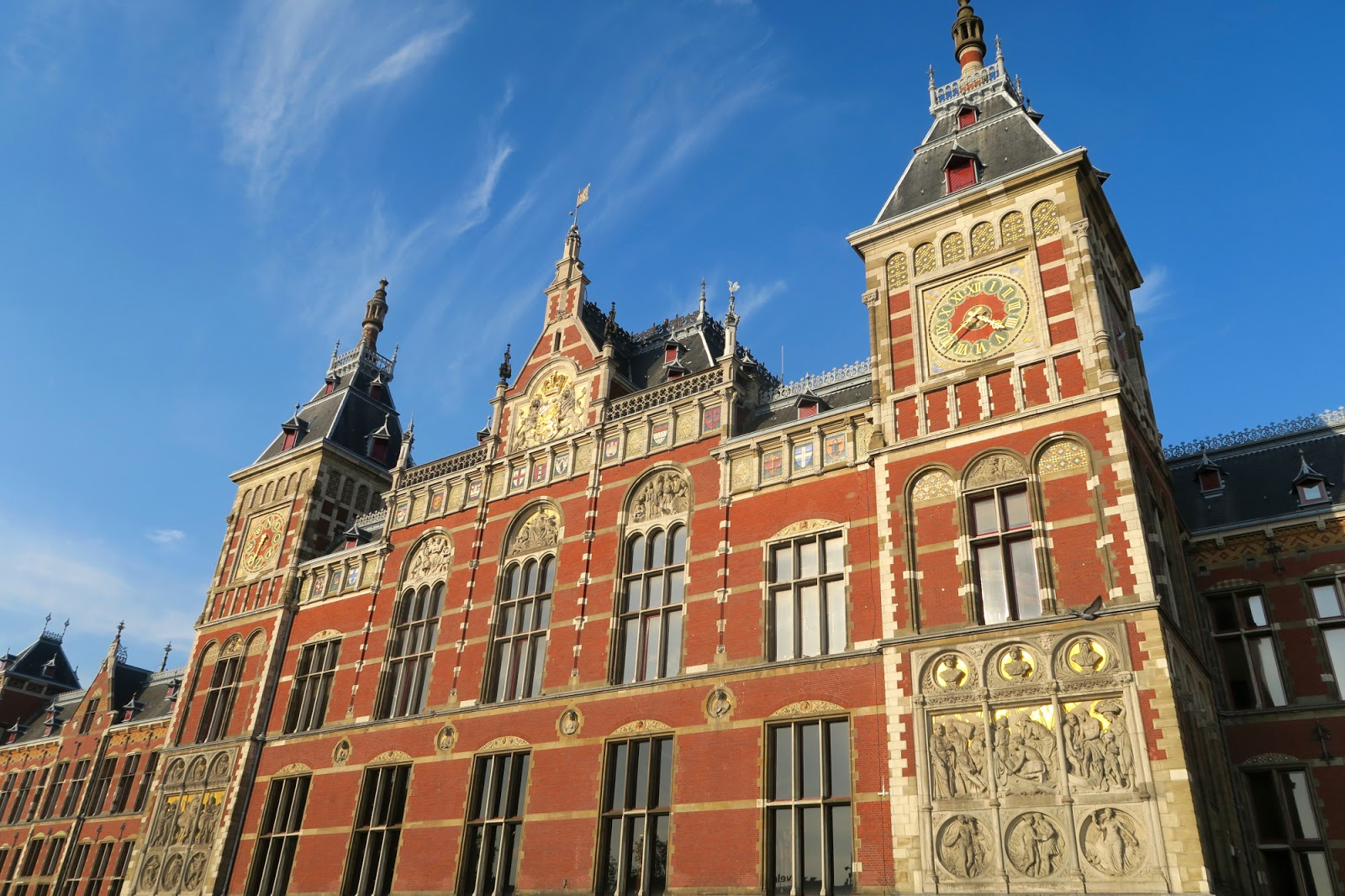 Amsterdam central station exterior