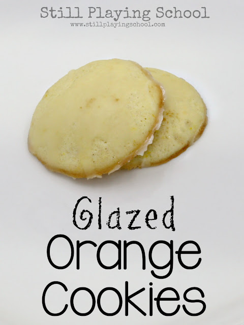 Glazed orange cookies recipe